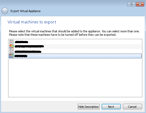 Export a VirtualBox Machine to VMware ESXi