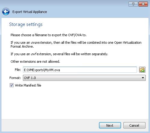 Export a VirtualBox Machine to VMware ESXi
