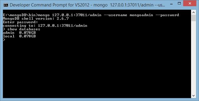 MongoDB Valid Creds