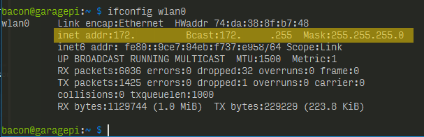 ifconfig wlan0