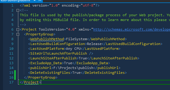 Custom Publishing with Visual Studio 2013